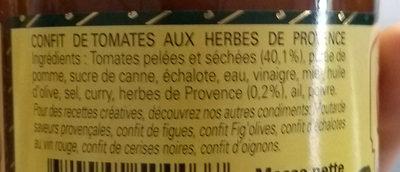 Confit de tomates aux herbes de Provence - Ingredients