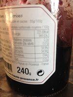 Confiture de Cerises noires - Voedingswaarden - fr