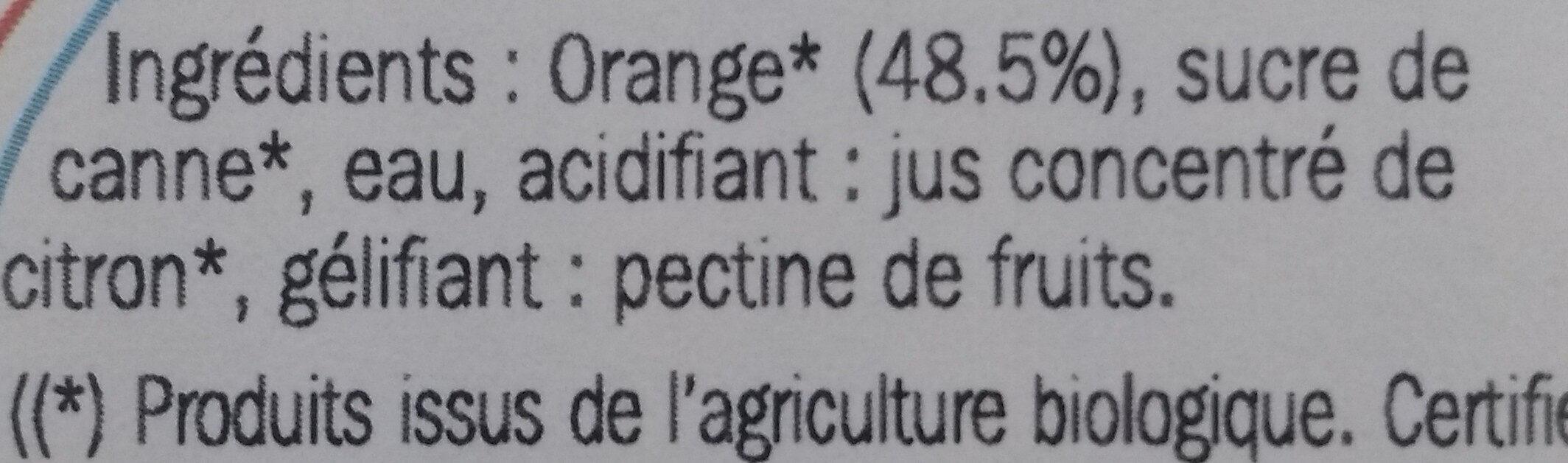 Confiture allégée oranges - Ingrediënten