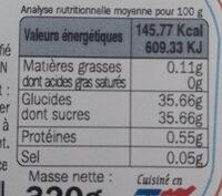 Confiture allégée oranges - Voedingswaarden