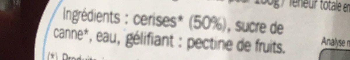 Confiture allégée cerises - Ingrediënten