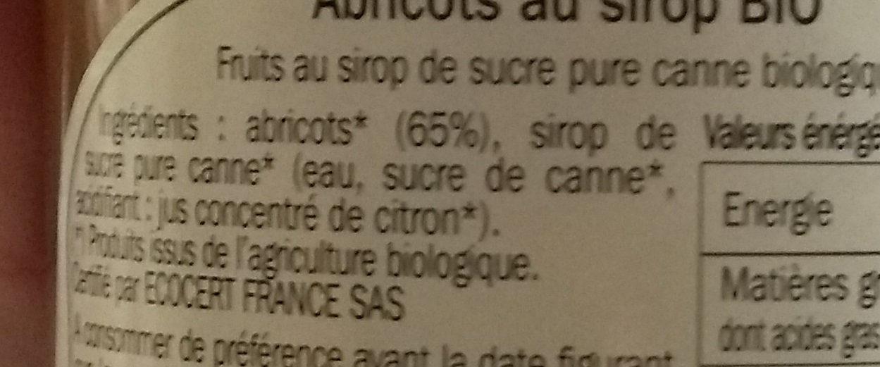Abricot au sirop - Ingredients