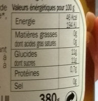Abricot au sirop - Nutrition facts