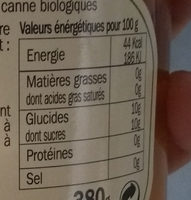 Pêches au sirop - Nutrition facts