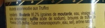Moutarde aux truffes de Provence - Ingredients