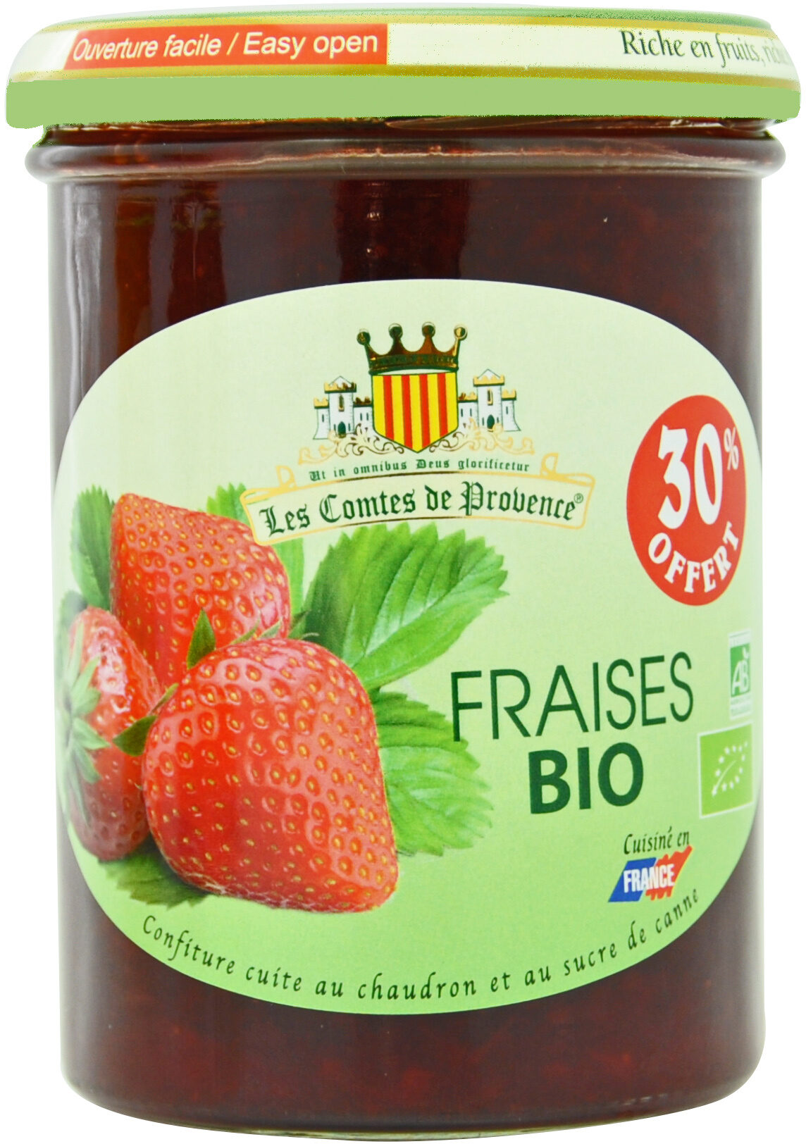 Confiture de Fraise BIO allégée en sucre - Product - fr