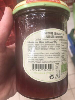 Confiture de Fraise BIO allégée en sucre - Ingredients