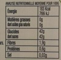 Confiture de Fraise BIO allégée en sucre - Nutrition facts