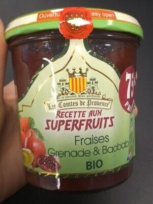 Confiture aux Superfruits Fraises, Grenade & Baobab BIO - Product