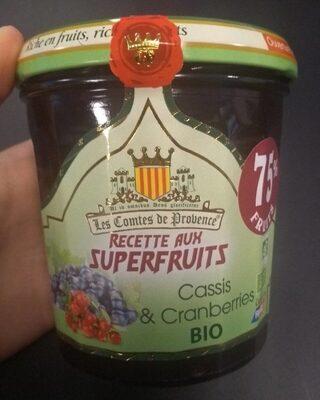 Confiture aux Superfruits Cassis & Cranberries BIO - Product