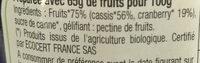 Confiture aux Superfruits Cassis & Cranberries BIO - Ingredients