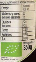 Confiture de Mûres Bio - Voedingswaarden - fr