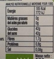 Confiture De Cerise Bio - Voedingswaarden - fr