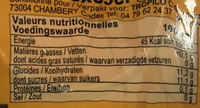 Orange Gourmande - Nutrition facts - fr