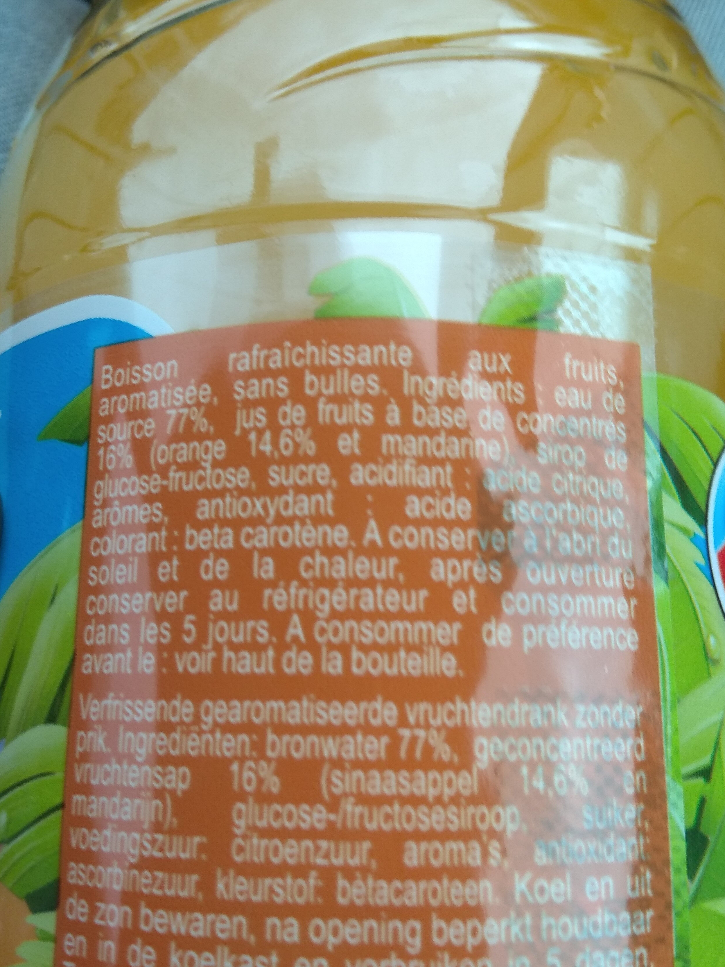 Orange Gourmande - Ingredients - fr