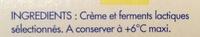 Crème fraîche de Normandie épaisse - Ingredients