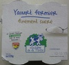 Yaourt fermier finement sucré - Product