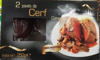 2 pavés de Cerf congelés - Produit