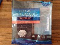 Noix de saint Jacques sauvage avec corail - Product - fr