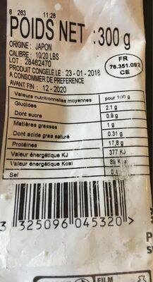 Noix de saint Jacques sauvage avec corail - Ingredients - fr