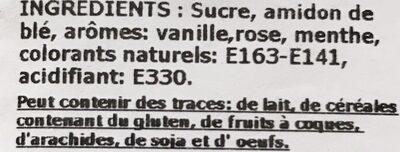 Rahat Loukoums - Ingredients - fr