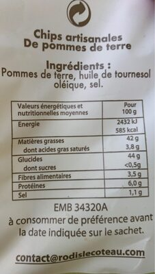 Chips sintapo - Nutrition facts - fr