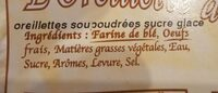 Oreillette d'autrefois - Ingredients - fr