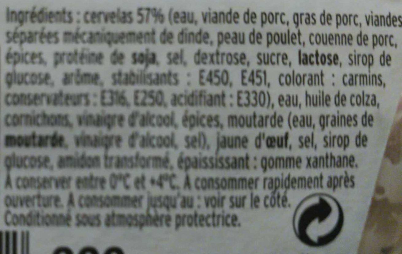 Salade de cervelas Rémoulade - Ingrédients - fr