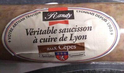 Véritable saucisson à cuire de Lyon aux cèpes - Product