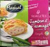 4 feuilletés Jambon et Fromage surgelés - Produit