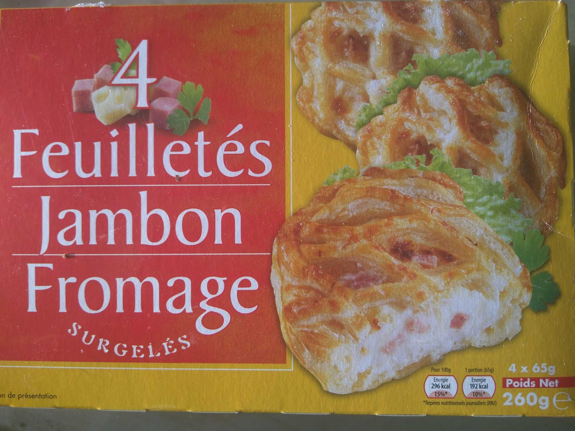4 Feuilletés Jambon Fromage, Surgelés - Product - fr