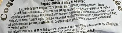 Coquille St Jacques* surgelée - Ingrédients