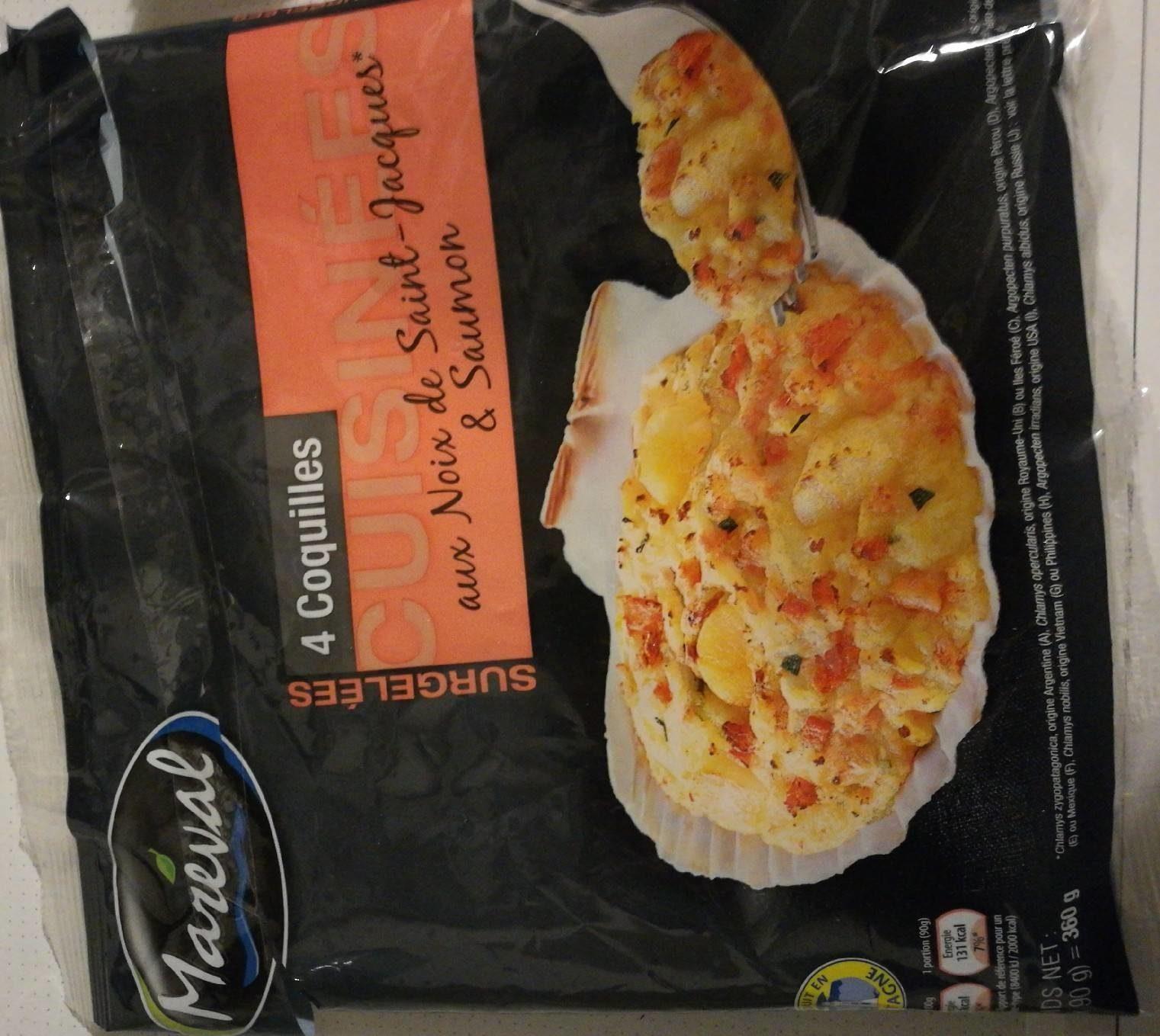 Coquilles aux noix de Saint Jacques et saumon - Product