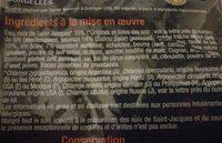 Coquilles aux noix de Saint Jacques et saumon - Ingredients