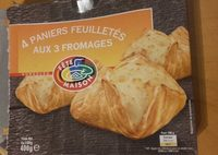 4 Paniers Feuilletės aux 3 Fromages - Product