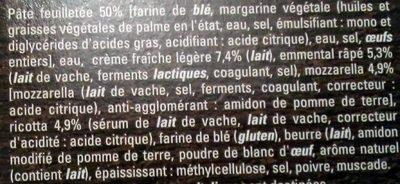 4 Paniers Feuilletės aux 3 Fromages - Ingrediënten