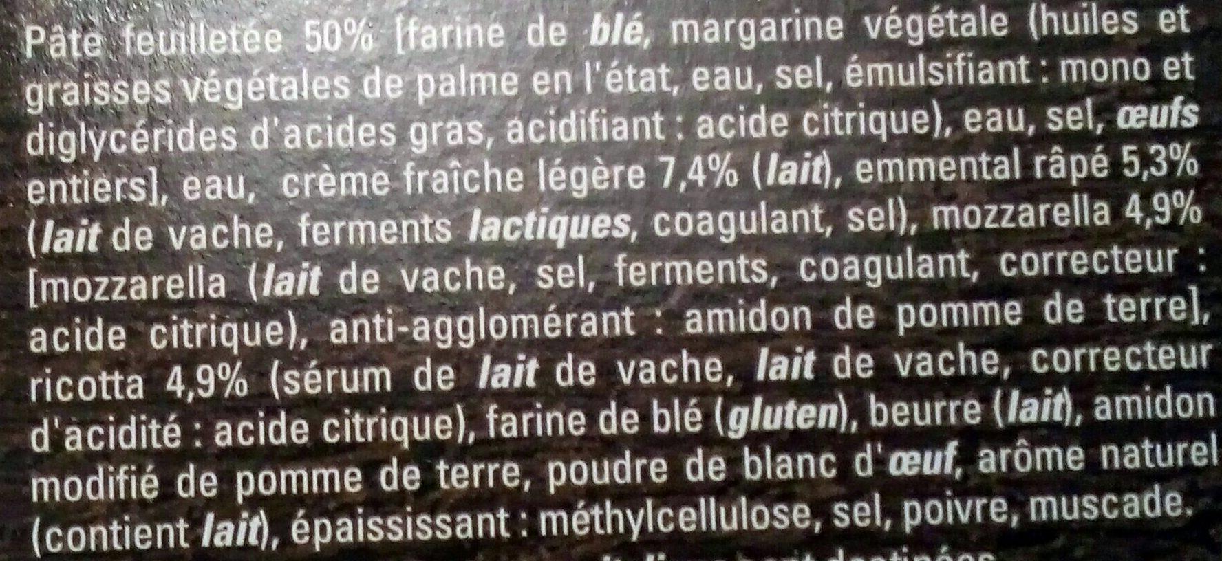 4 Paniers Feuilletės aux 3 Fromages - Ingrédients