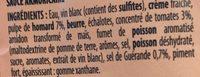 Sauce armoricaine - Ingrediënten - fr