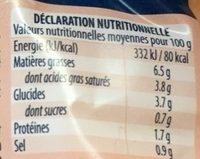 Sauce armoricaine - Voedingswaarden - fr