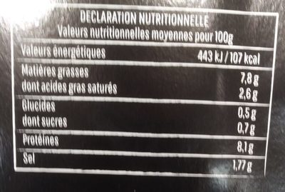 12 Fine bouch' - Nutrition facts