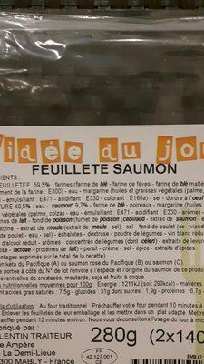 Feuilleté au saumon - Ingrédients - fr