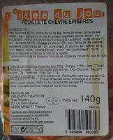 Feuillete chevre epinard - Product - fr