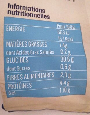Gnocchis à poêler - Información nutricional - fr
