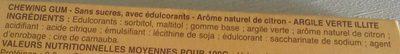 Chewing Gum Arôme Naturel Citron - Ingrédients