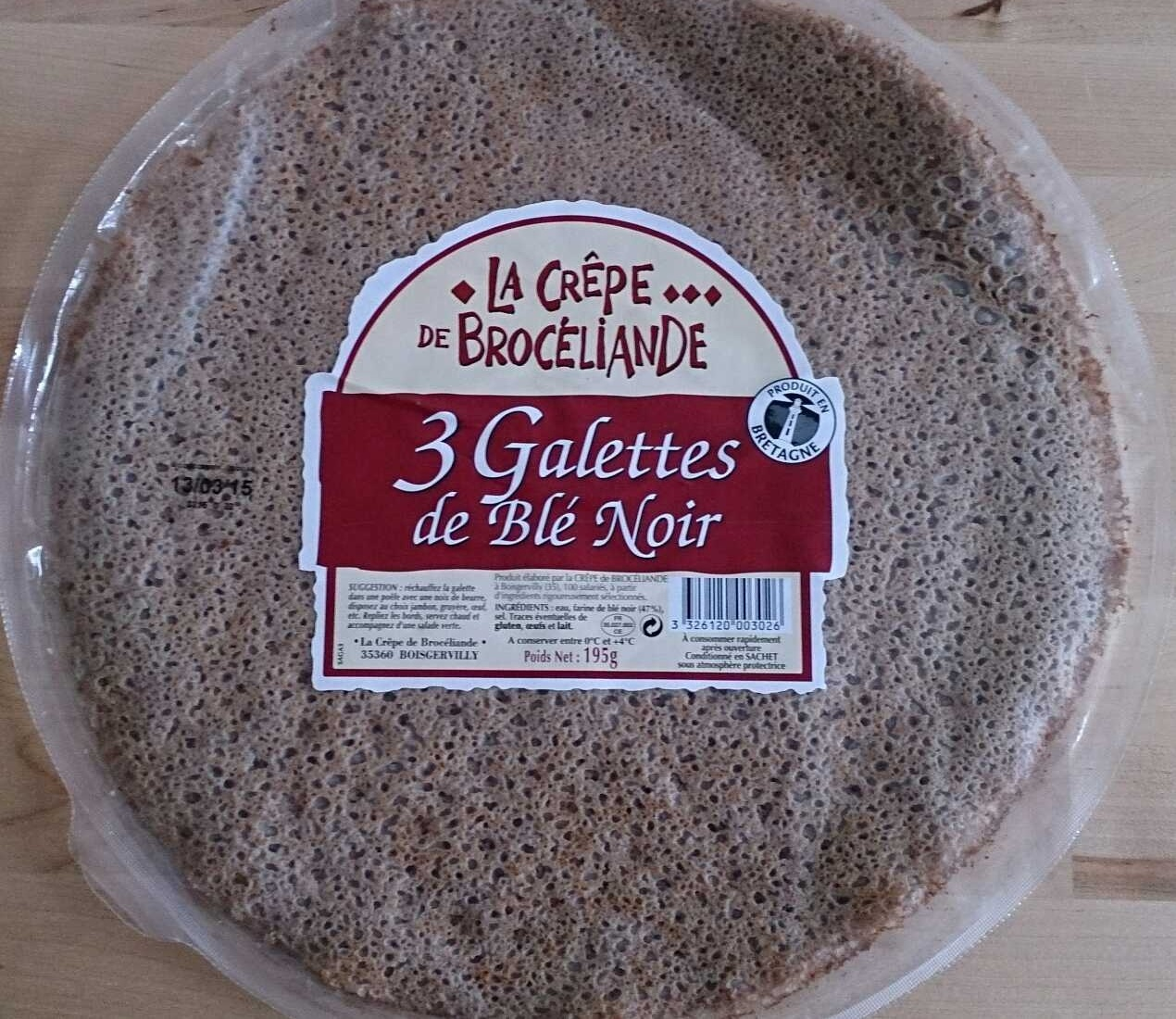 Galettes de Blé Noir - Produit - fr