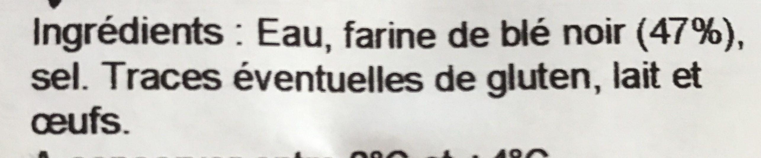 4 Galettes de Blé Noir - Ingrediënten