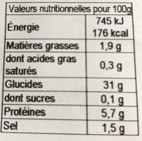 4 Galettes de Blé Noir - Voedingswaarden