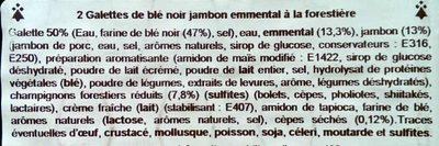 2 Galettes de Blé Noir Jambon, Emmental, à la Forestière - Ingrédients