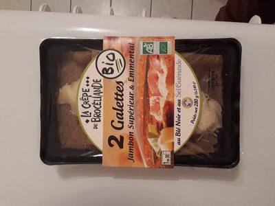 Crepe De Broceliande Galette Jambon Fromage Bio X2 300G - Produit - fr