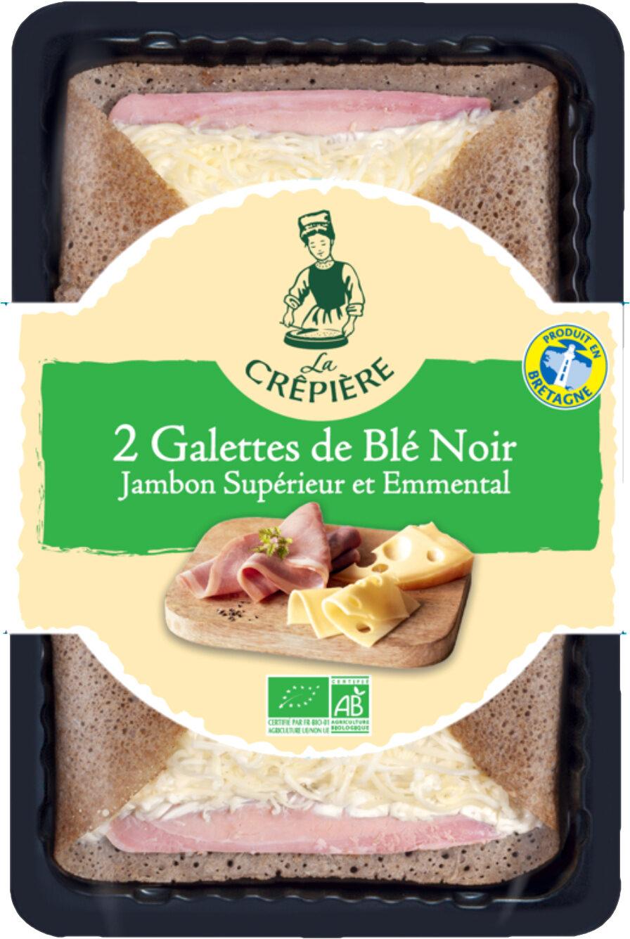 2 Galettes de Blé Noir Jambon Supérieur et Emmental biologiques - Product - fr
